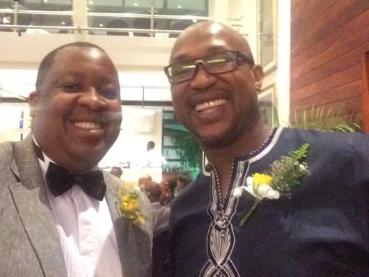Harare Mayor's Cheer Fund Chairperson Tendayi Mashingaidze and comedian Carl Joshua Ncube