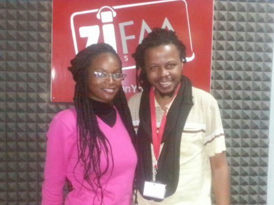 Tapiwa Sachiti (left) with Larry Kwirirayi