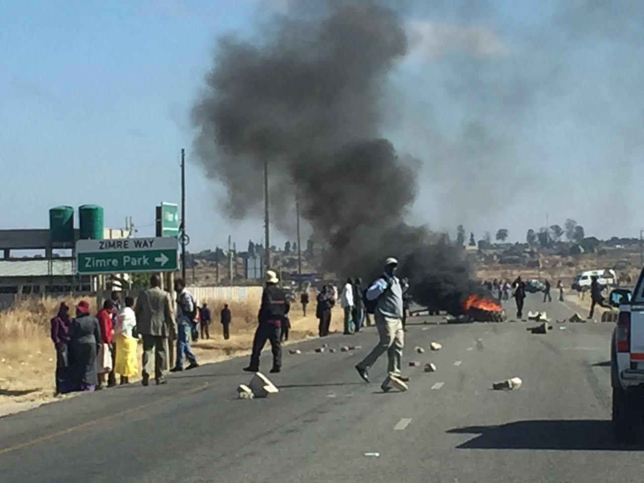 Kombi protests in Harare