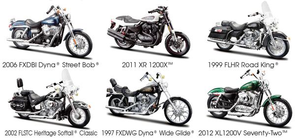 Maisto Diecast Harley Davidson Series 32 6 Piece SET