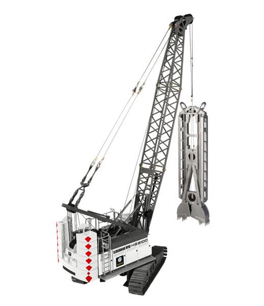 NZG Model Implenia Liebherr HS 8100 HD Hydraulic Crawler