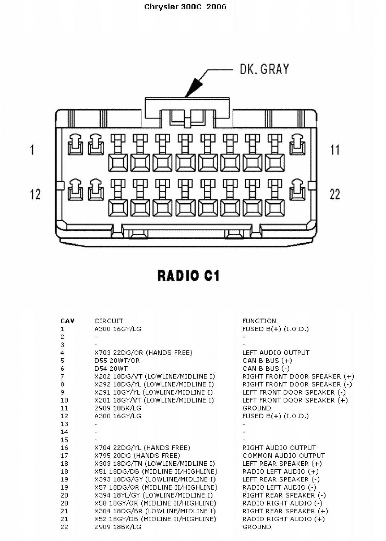 [DIAGRAM] Radio Wiring Diagram For 06 Chrysler 300 FULL