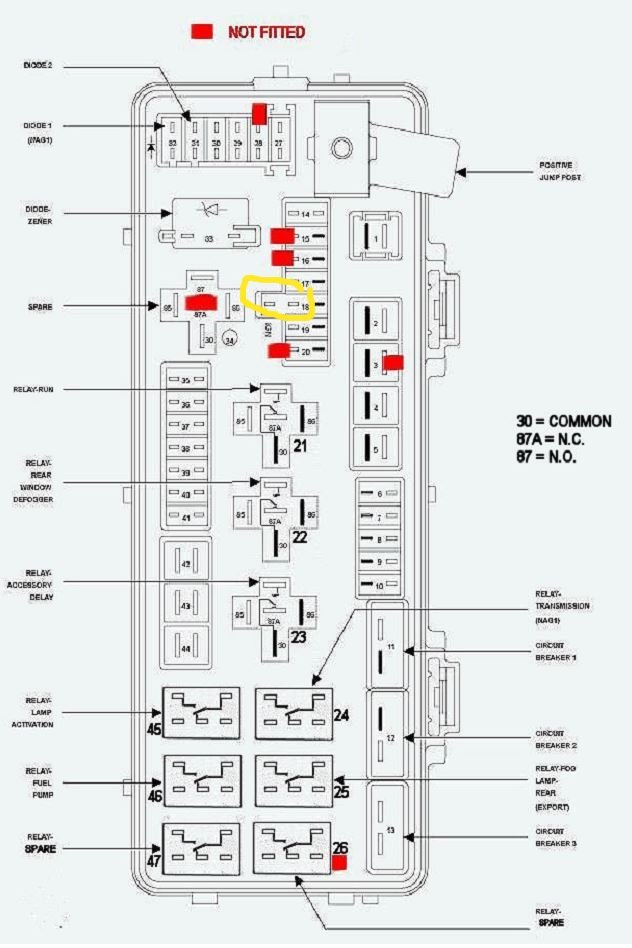2006 Chrysler 300 2 7 Rear Fuse Diagram