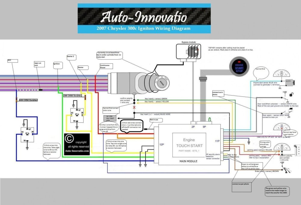medium resolution of touch button 2007 chrysler 300c vehicle igniton wiring diagram 1 jpg