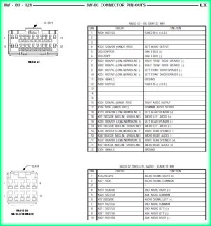 2005 Chrysler 300 stereo wiring diagram