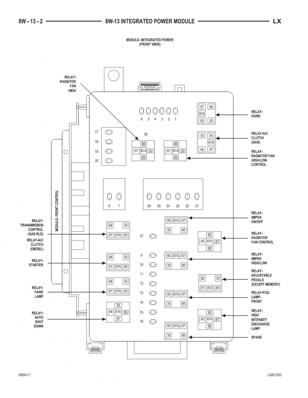 medium resolution of 300c fuse box wiring library 1995 dodge dakota fuse panel diagram 2000 click image for larger