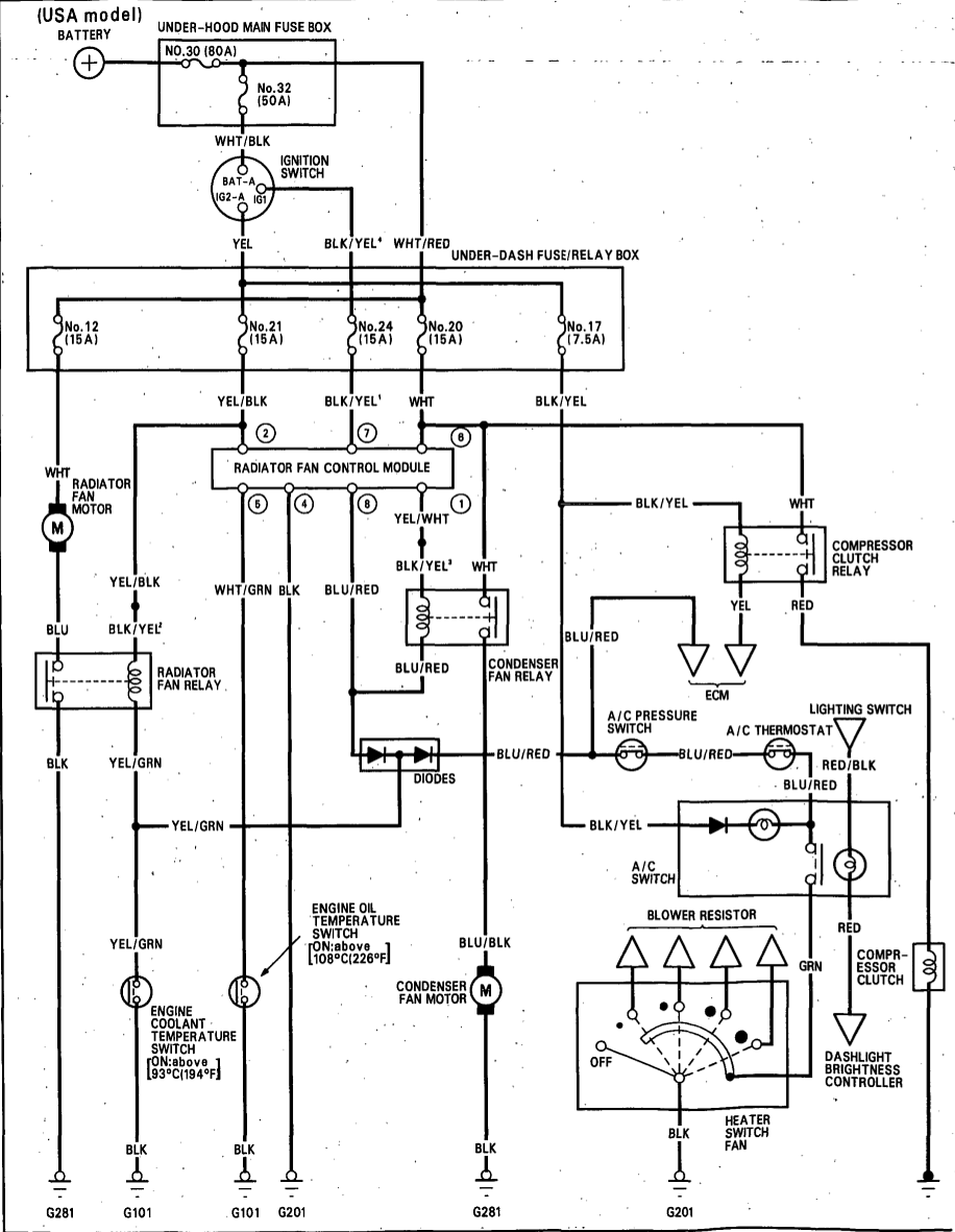 ac wiring diagram 90 93 acura integra