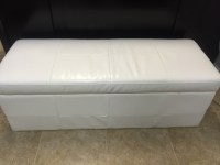 White Leather Storage Bench | 307 Events