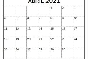 Calendario Abril 2021 Imagenes