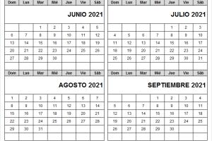 Calendario Junio A Septiembre 2021 Con Festivos Colombia