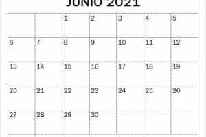 Imagen Calendario Mes De Junio 2021