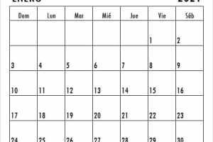 Calendario De Enero De 2021