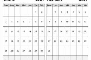 Calendario Enero Febrero 2021 Con Festivos Colombia