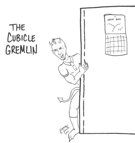 #29: The Cubicle Gremlin : The 30 Characters Challenge