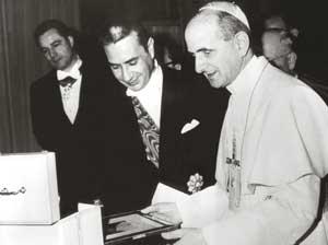 Paolo VI riceve in udienza Aldo Moro,  presidente del Consiglio dei ministri, il 20 gennaio 1964
