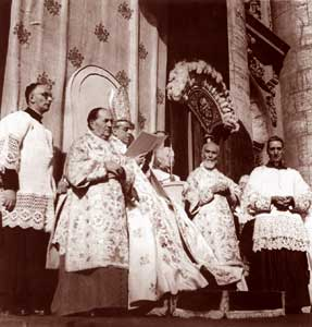 Image result for pius xii declares assumption of mary, 1950