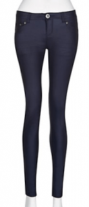 32in Navy Coated Skinny Jeans £22.99