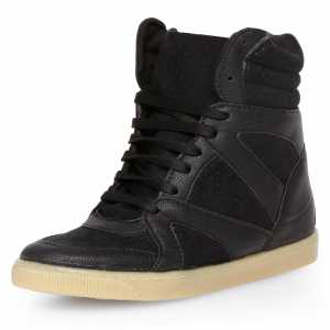Dorothy Perkins Black concealed wedge trainers £39.00