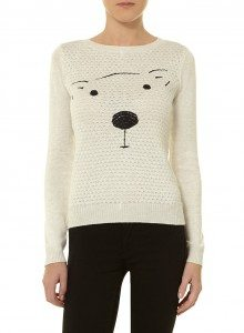 Dorothy Perkins Cute oat quilted bear jumper £28.00