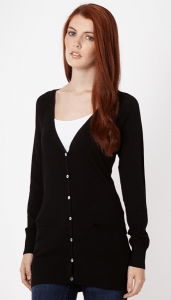 Red Herring Black longline V neck cardigan £22.00