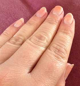 After removing polish with the Nutra Nail No-Mess Express Nail Polish & Gel Perfect Remover