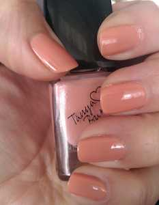 Tanya Burr by eyeCandy Pastel Nail Polishes - Peaches & Cream Swatch