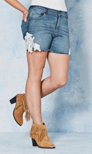 Simply Be Angel Ribbons Natalya Lace Trim Shorts £25.00