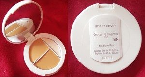 Sheer Cover Studio Concealer and Brighten Trio in Medium/Tan