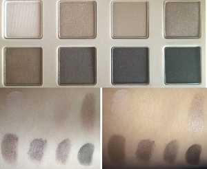 No7 Mini Eye Palette Special Edition Swatch (Left) Without Flash (Right) With Flash