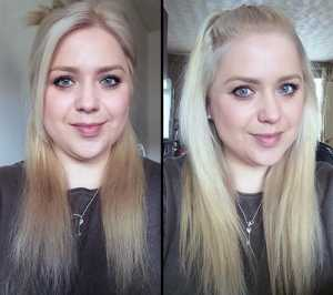 Babyliss Diamond 235 Straightener - As you can see in the left pic, I have only straightened one side and the difference is instantly noticable. In the right pic I have straightened all the extensions and they look like new!