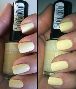 Revlon Colorstay Nail Varnish in 100 Buttercup. A pastel yellow gloss finish shade. This is great for those who loved Models Own 'Lemon Meringue'  as the shades are super similar. 2 coats to opaque