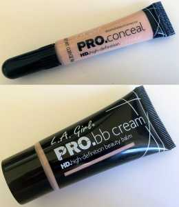 LA Girl HD Pro bb Cream and Pro Concealer