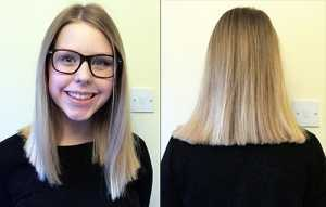#hairtospare Little Princess Trust - The result, a modern 'Lob' cut which she loves and a good, healthy hair donation to the charity!
