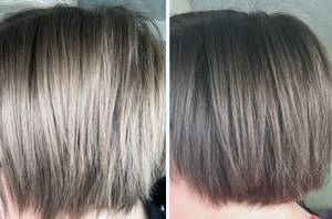 Josh Wood Colour Permanent Hair Colour in 6.5 Dark Blonde Before After Side