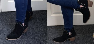 Bree Suede Cut Out Ankle Boots Wide E Fit
