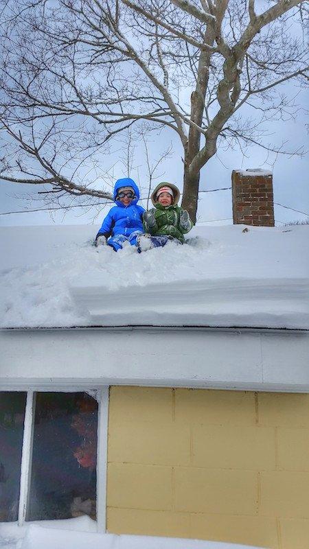 Boys on Roof Winter 2015