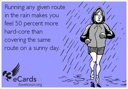 Running in the rain meme