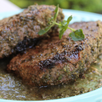 Verde Farms Strip Steaks with Chimichurri Sauce (and a Giveaway!)