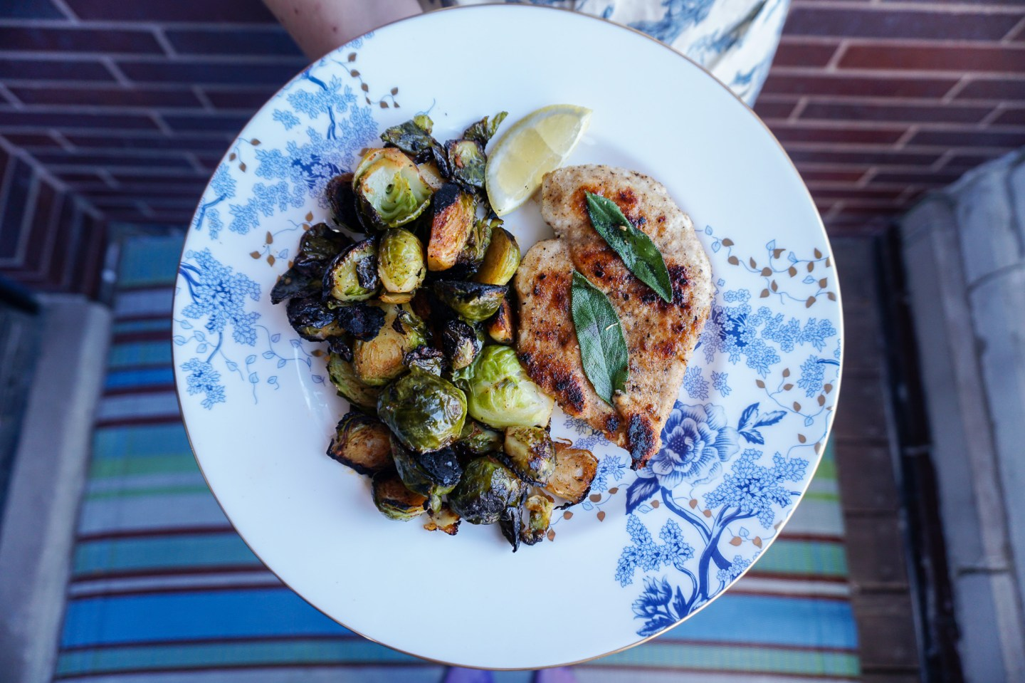 Chicken and Brussels Sprouts. Pretty Simple Recipe via 312food