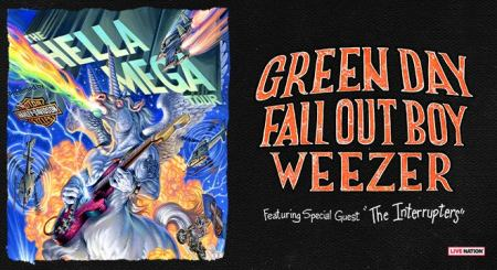 Image result for green day fall out boy weezer tour
