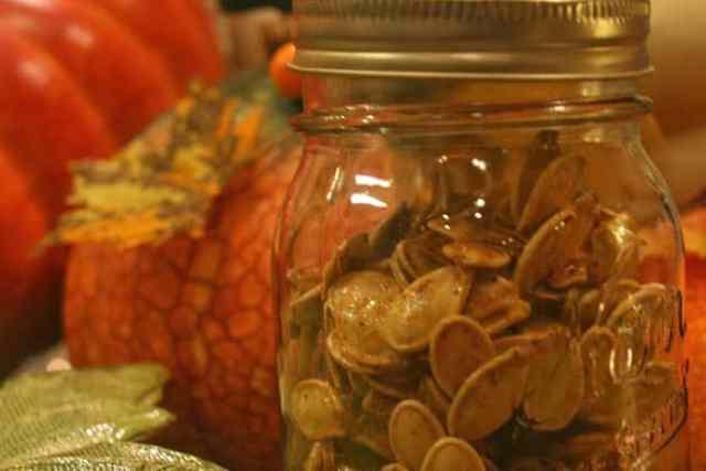 Roasted Sweet and Savory Pumpkin Seeds