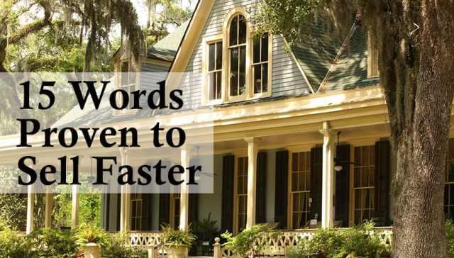 15 Keywords that Sells Real Estate