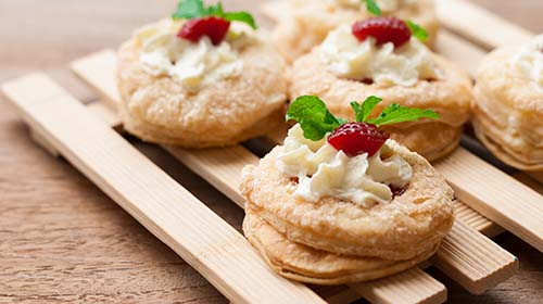 Strawberry-Rhubarb Tart and Mini Galettes
