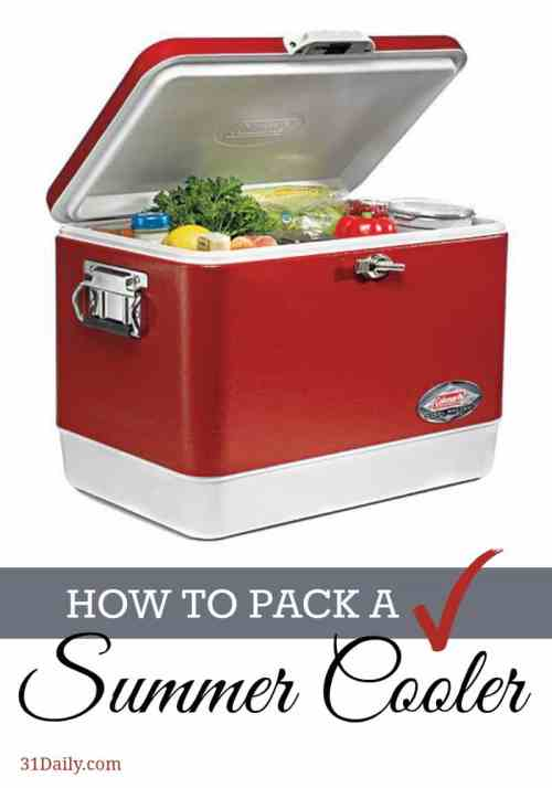 How to Pack a Summer Cooler -- 31Daily.com