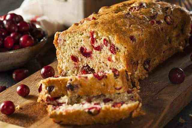 Fresh Cranberry and Orange Zest Holiday Loaf