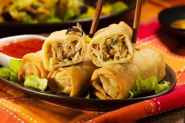 Healthy Baked Egg Rolls with Ginger Soy Dipping Sauce