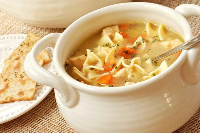 Restorative French Chicken Noodle Soup with Tarragon and Cayenne