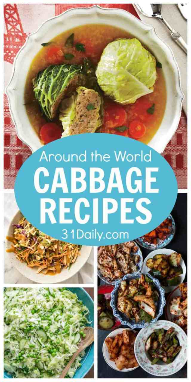 19 Around the World Cabbage Recipes | 31Daily.com