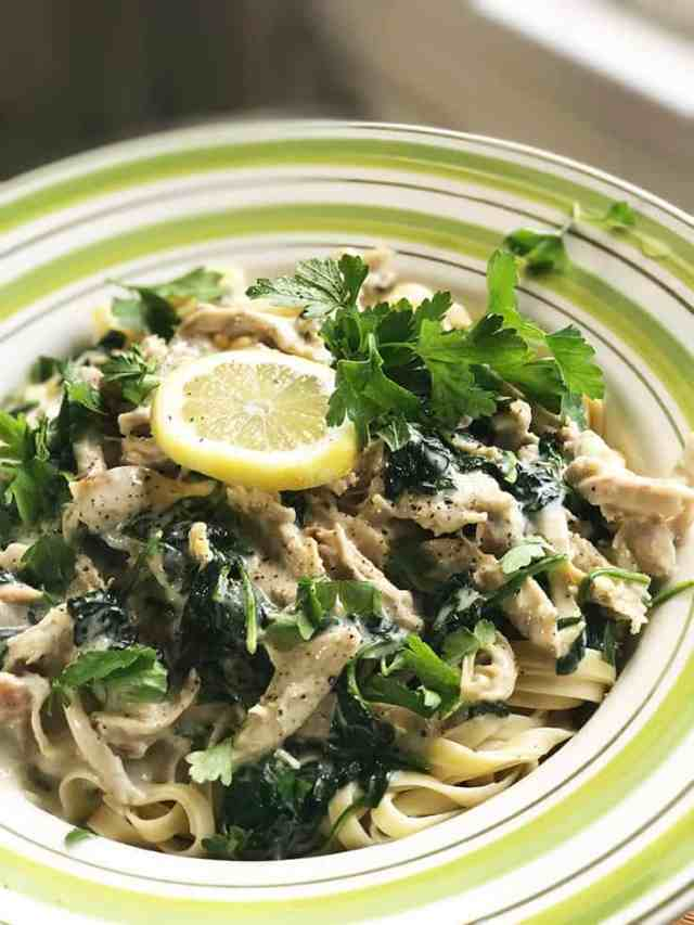 Quick and Easy: Chicken Fettucini Alfredo with Spinach and Lemon   31Daily.com