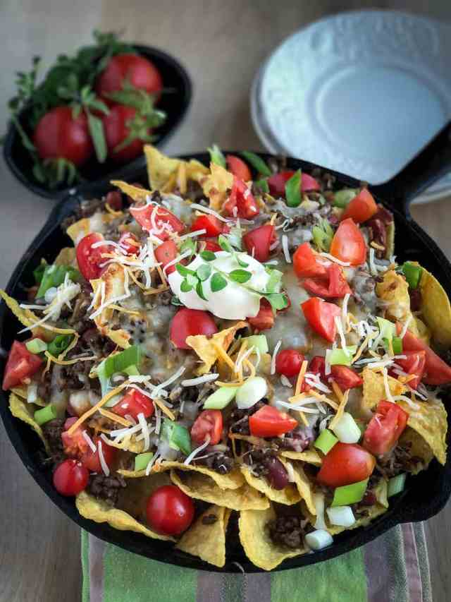 Easy Beef Skillet Nachos for your Next Party or Game Day   31Daily.com
